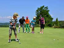 【ゴルフ】お子様と一緒にゴルフ体験はいかがでしょうか?