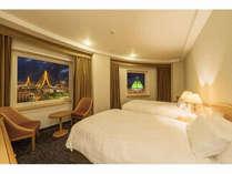 コーナーツインルームからは青森ベイブリッジと観光物産館アスパムを一望できます。