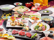 """【グルメ会席-美樹-】<とちぎ和牛の三種食べ比べ>をはじめ、""""とちぎならではの味覚""""をお部屋にて。"""
