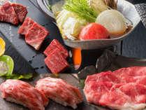 """<すき焼き&食べ比べ陶板焼き&牛握り>にて""""とちぎ和牛""""の旨みを心ゆくまで"""