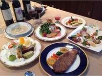 【福島牛サーロインステーキ200gを味わう大満足のご夫婦・カップル愛犬プラン