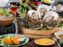 【冬季限定】浦村産直送牡蠣の食べ比べ会席♪焼き牡蠣は食べ放題!!《60分間真剣勝負プラン》