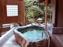 客室付き掛け流し露天風呂(一例)