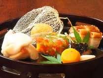 文月御献立:前菜一例(季節の彩り)