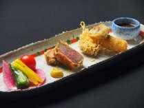 霜月料理:前菜一例(彩り5種盛り)