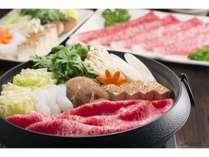 ◆豊後牛すき焼き鍋/料理長特製の割り下で…