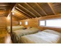 ファミリーコテージ1の寝室
