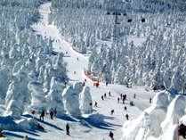 【蔵王全山リフト2泊2日券付】ゲレンデまで送迎あり!荷物お預かり&スキー後の温泉無料♪