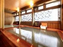 ■【温泉】木の香り漂う「源泉風呂」と「泡風呂」。美肌作りと若返りに効果のあるお風呂!