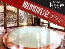 ■【玉子風呂】湯船が玉子型になっており、足触りの柔らかい全て木造りです。 ※期間限定プランイメージ