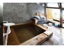 【貸し切り風呂】おひとり様用プチ露天風呂もあります