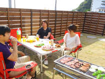 【BBQ機材レンタルプラン】富津の新鮮な魚介類、お肉、お野菜を芝生貼りのお庭でBBQ
