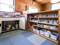 食器やキッチングッズは各棟揃っています。
