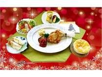 【2食付】12月限定♪1ドリンク付きクリスマスプレート※朝食無料サービス