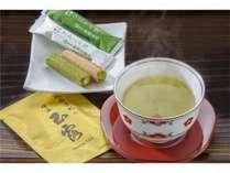 【お菓子】おいしいお茶とお菓子でお出迎え。ごゆっくりおくつろぎ下さい。