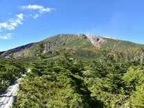 *御嶽山/田の原高原からのぞむ御嶽山山頂。七合目に位置し、遊歩道も整備されております