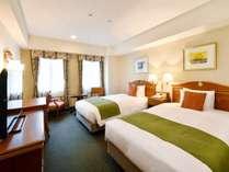 デラックスツイン広さ27㎡ ベッド幅122cm