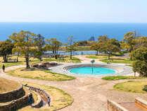 【あぐりの丘公園】夏の暑い時には、子供たちが水遊びを楽しめる広場もあります♪
