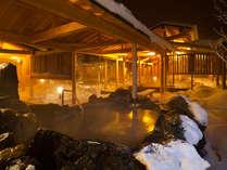 """温泉館""""白樺の湯"""" 雪景色を楽しみながら"""