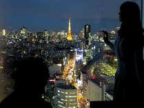 カップルにおすすめ♪高層階からの夜景も魅力!メインタワーは高層階指定の客室も有。 ※写真の眺望は一例