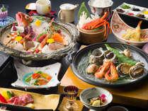 『海幸の膳(一例)』南知多ならではの新鮮な地魚がメインの会席料理。