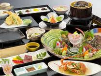 <海幸の膳>季節や仕入状況により料理内容や器が異なる場合がございます。