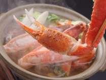 【夕食】ぷりぷりのカニはカニ鍋にしても絶品です