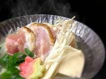 【冬の温物】地鶏のラジウム温泉鍋