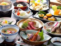 【ご夕食一例】メインは和牛の陶板焼き!グルメさんにお勧めです♪