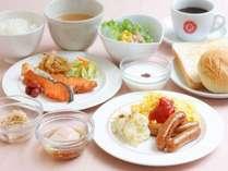 ■【朝食】和洋メニューバイキング。本場イタリアのエスプレッソ、カプチーノなどカフェメューも。
