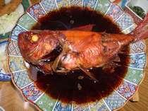 稲取ブランドの金目鯛の丸煮つけ(姿煮)地元稲取ではお祝いで出される郷土料理です。