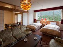 【エグゼクティブデラックス】65m2+和室8畳とスイートの次に広いお部屋、ごゆっくりとお寛ぎください。