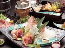 厳選した食材を職人が目にも鮮やかに仕上げた和食会席※イメージ