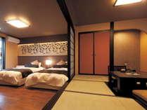 和室・洋室が隣接した造りのお部屋をお楽しみください。
