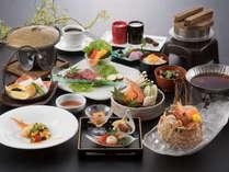 <スタンダード創作和食>「魚介と鶏つみれの小鍋」「富山湾の鮮魚盛り合わせ」など