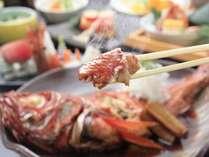また食べに来たい♪とお客様からの声が多い、当館自慢の金目鯛姿煮付け。