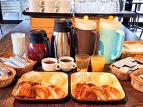 無添加パン朝食の一例