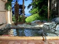 温泉|スロープ・手すり付き露天風呂だから安心。