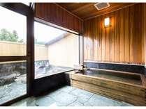 露天風呂付の貸切家族風呂(檜造り)【要予約:有料】※源泉かけ流し温泉