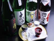 信州の地酒:利き酒セットです。ぜひ違いを呑み比べてみてください