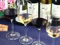 【夕食】プレミアムコース、グレードアップのディナーにシニアソムリエ厳選グラスワイン4種セットつき。