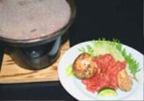 松茸と信州馬肉石焼ぜいたくですね~。