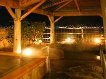 地酒風呂と諏訪湖を望む岩風呂