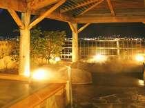 名物『地酒風呂』と諏訪湖を望む露天岩風呂