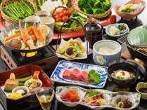 カニすき鍋&和牛陶板の会席