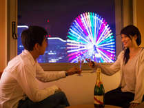 ■『これぞ横浜!』非日常へのトリップ。お部屋でゆっくりふたりだけの夜景を堪能♪■