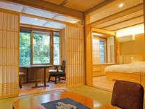 本館2階客室「白露」「温泉旅館らしさ」「和の趣き」「洋の快適さ」が融合した空間。