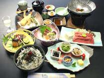 【松茸&ブランド熊野牛&しらす丼会席】あれこれ食べたい豪華3大味覚♪湯浅城食欲の秋プラン