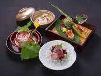 【鱧料理一例】夏の京料理には欠かせない食材「はも」。京会席とともにお愉しみください。