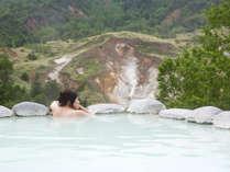 絶景露天風呂「こまくさの湯」は、男性用、女性用、混浴もあり♪